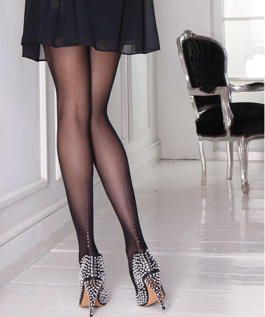 Прозрачные колготки черная юбка фото